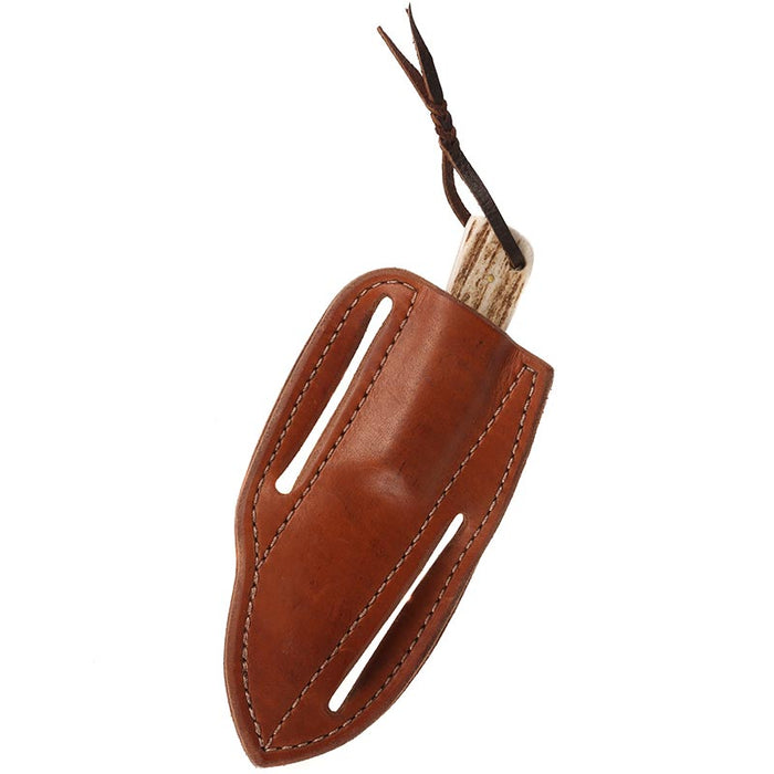 NRS Cowtown Ranch Knives Tombstone Knife w/ Plain Leather Sheath