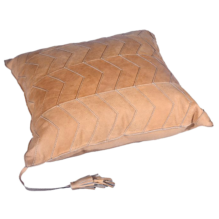 Hiend Accents Chevron Leather Pillow