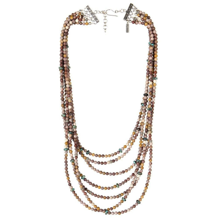 Paige Wallace Mookite 7 Strand Necklace