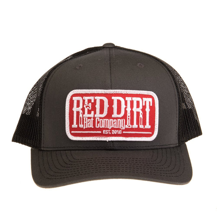 Red Dirt Hat Co Grey and Black Cap