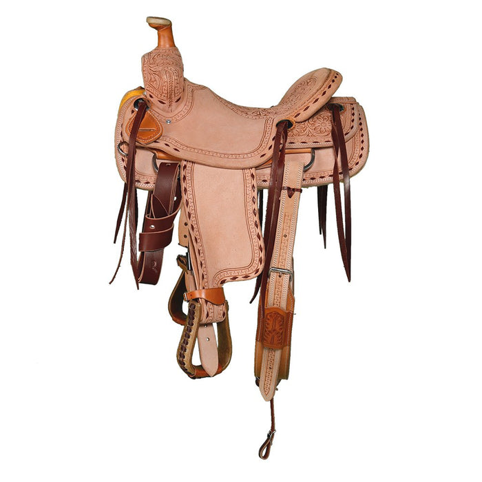 NRS Competitor Series Kids Rough Out with Buckstitch Ranch Saddle