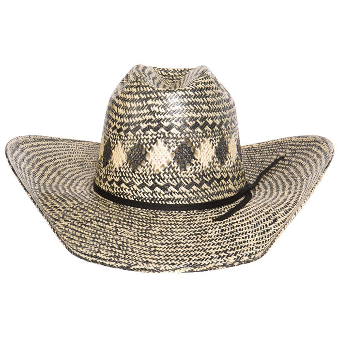 Rodeo King Black and Ivory Jute 4 1/2in. Brim Open Crown Straw Hat