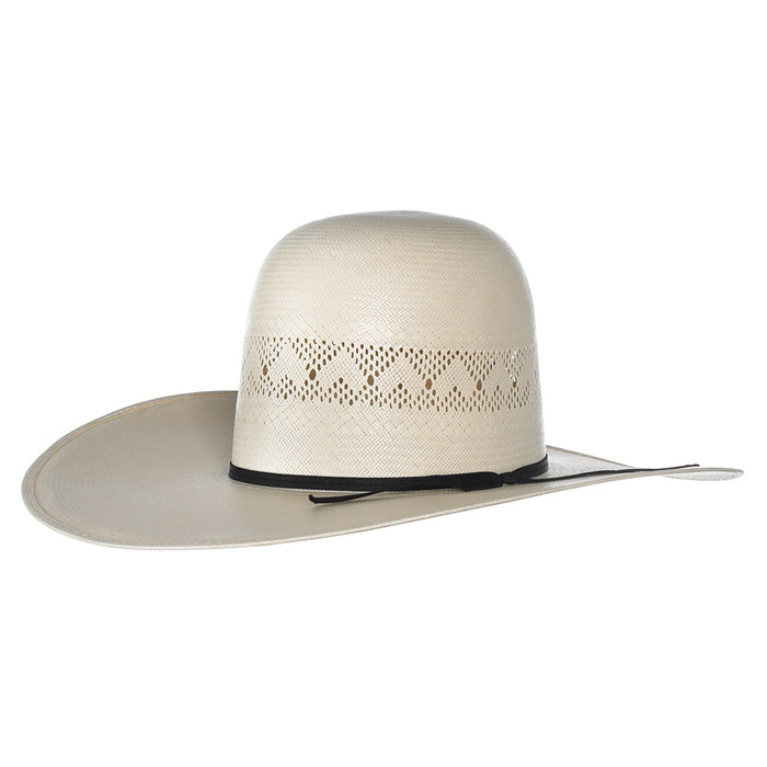 Rodeo King Ivory High Point Shantung 4 1/2in. Brim Open Crown Straw Hat