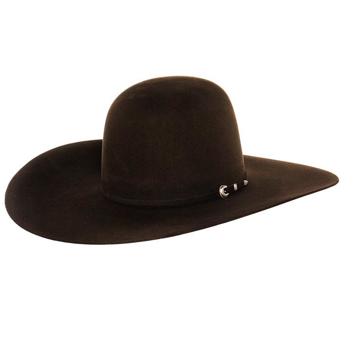 Rodeo King 7X Chocolate 5in. Brim Open Crown Self Band Felt Hat
