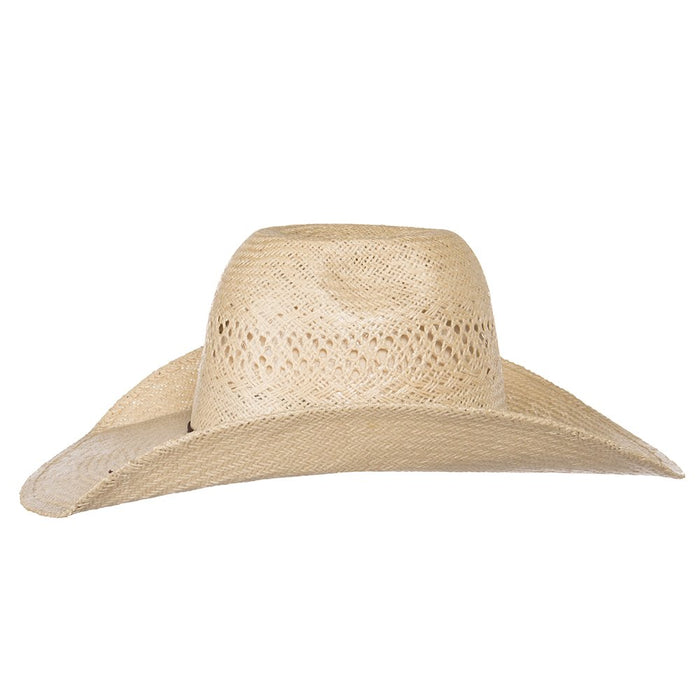 Rodeo King Jute Open Crown 4-1/4in. Brim Straw Cowboy Hat