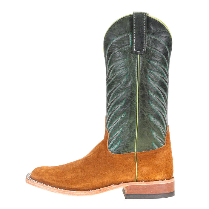 Men's Anderson Bean Rust Crazy Horse Rough Out 13in. Emerald Explosion Top Boots