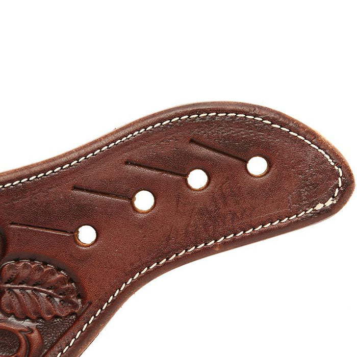 Martin Saddlery Men's Chocolate Mountain Daisy Dove Wing Spur Straps