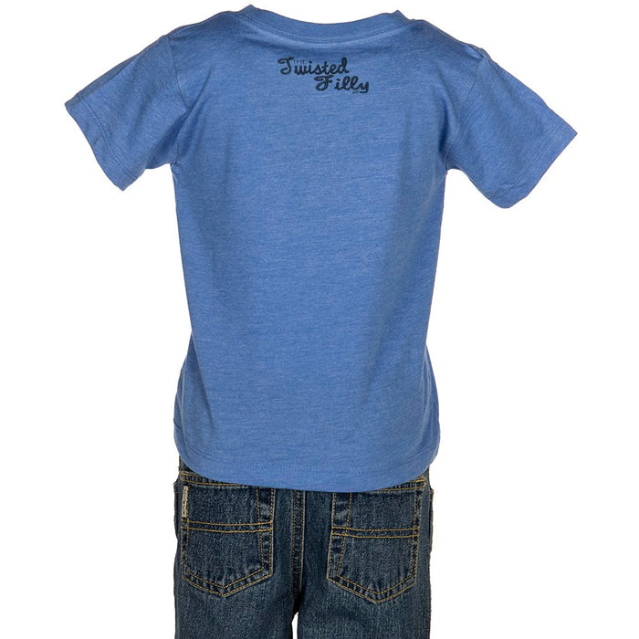 Boys Twisted Filly Cowboyin Retro Short Sleeve Tee