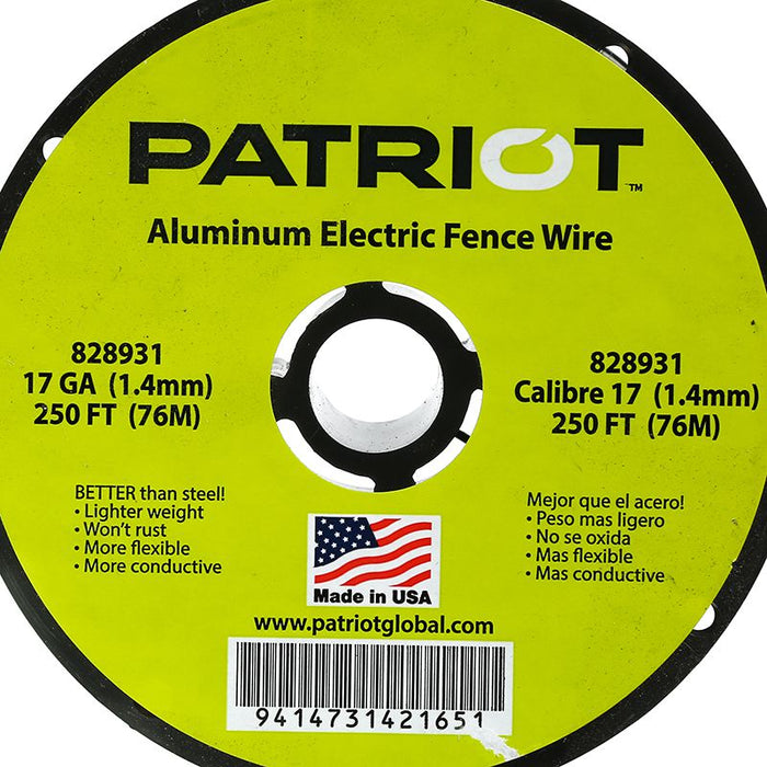 Patriot Aluminum Wire 17GA 250`