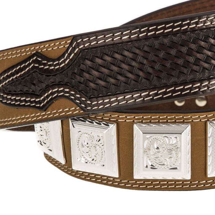 Men's NRS Leather Belt with Square Concho