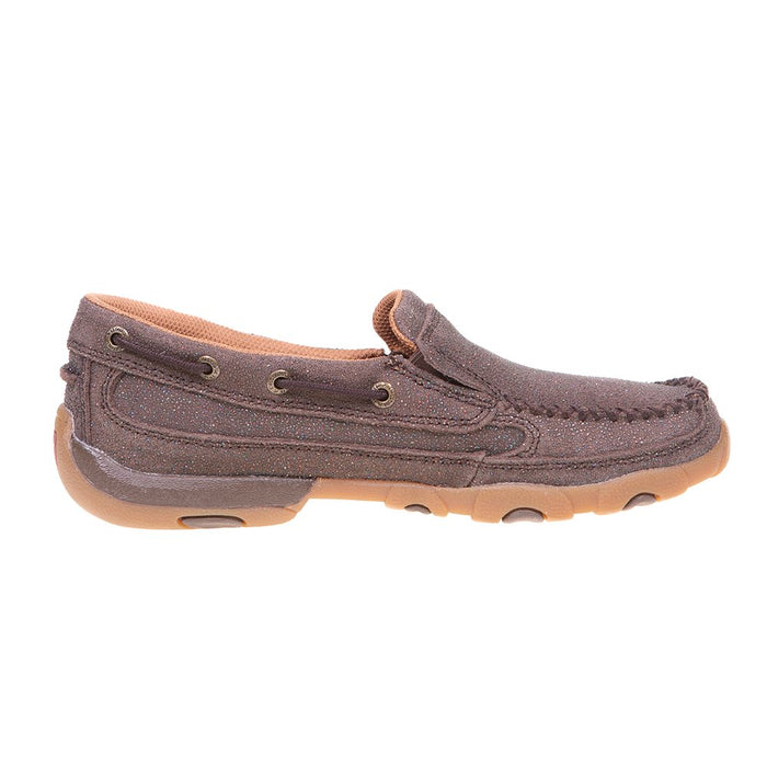 Women's Chocolate Shimmer Drive Moc Slip On