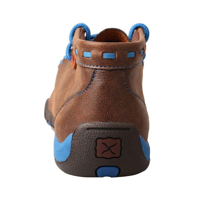 Kids Twisted X Woven Brown and Blue Driving Mocs