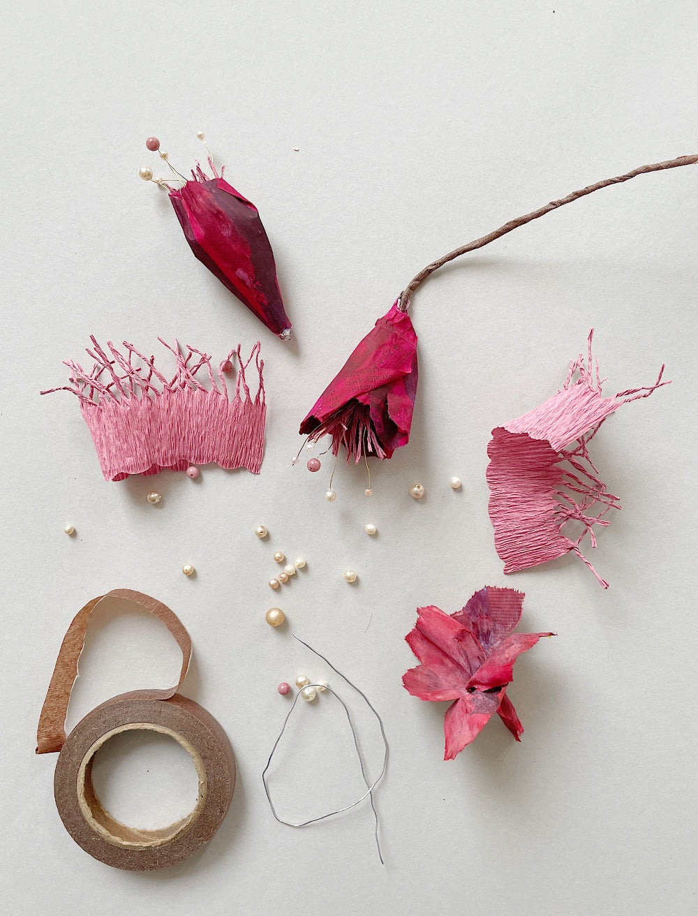 papmache guide blomster