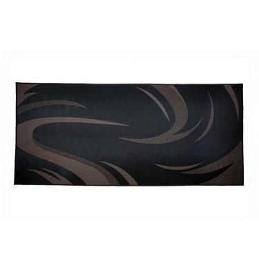 Patio Mat 8 x 18 Swish Black/ Brown
