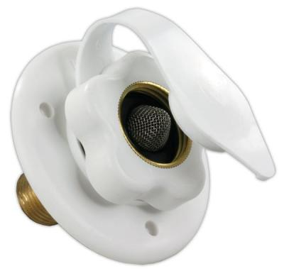 "CITY WATER FLANGE w/ 1/2"" MPT -  POLAR WHITE"