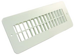Plastic Floor Resister Non-Dampered - White