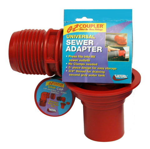EZ Coupler Universal Sewer Adapter - Red