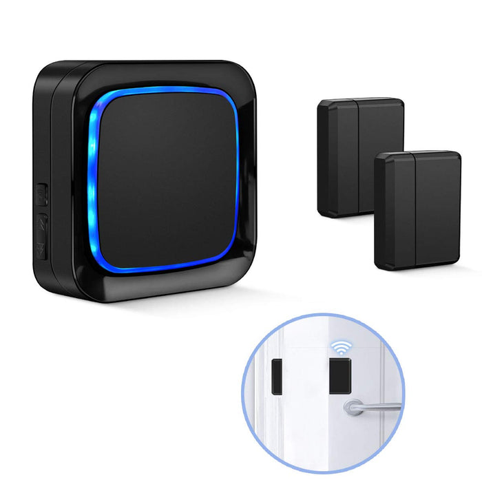 Door Sensor Alarm Black Coolqiya