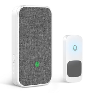 Wireless Doorbell, 1 Transmitter and 1 Plug-in Receiver  | Coolqiya