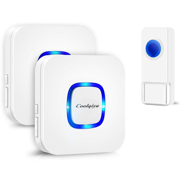 Doorbell Chimes Wireless with 1 Bell 2 Receivers