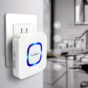 Door Chime Plug-in Blue LED flash