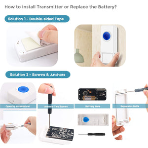 Coolqiya wireless doorbell B17-2T3 Install