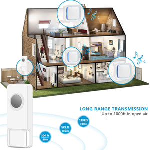 White & Wireless Chimes Model B | Wireless Doorbells | Coolqiya