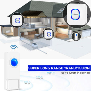 Coolqiya wireless doorbell B17-2T3 long range