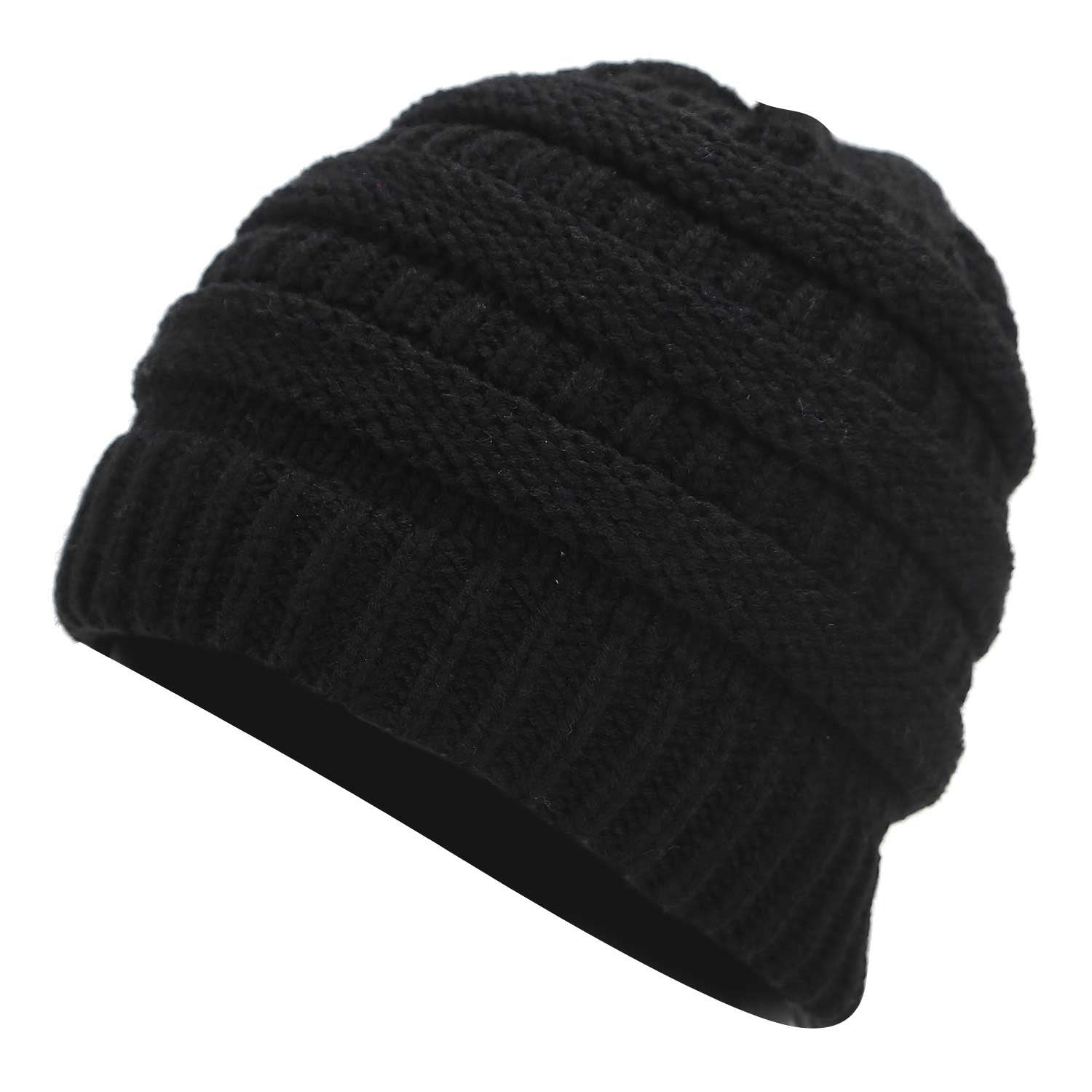a5188dcf4 Ponytail Beanie Hat Winter Skullies Beanies Warm Caps Female Knitted  Stylish Hats For Ladies Fashion