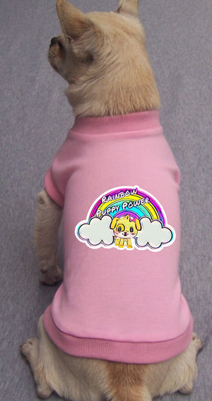 Rainbow Puppy Power Tee