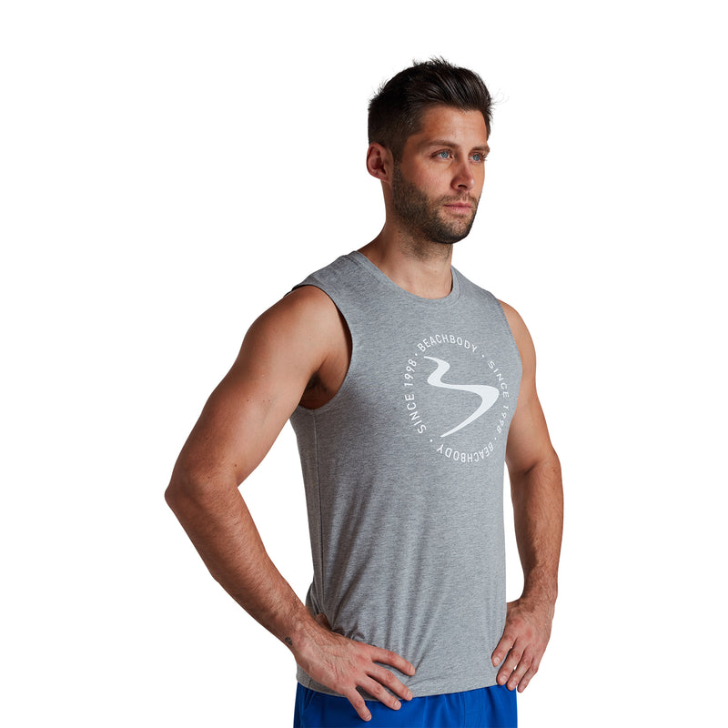 Men's Verbiage Wave GFX Muscle Tank