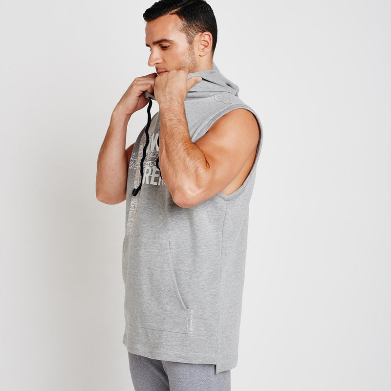 Men's Crossover Sleeveless Hoodie