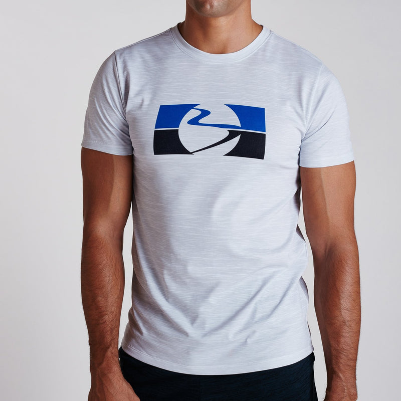 SS19 Go-To Dual Split Wave Tee White