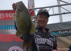 Wil with a nice bass at an Orillia weigh in