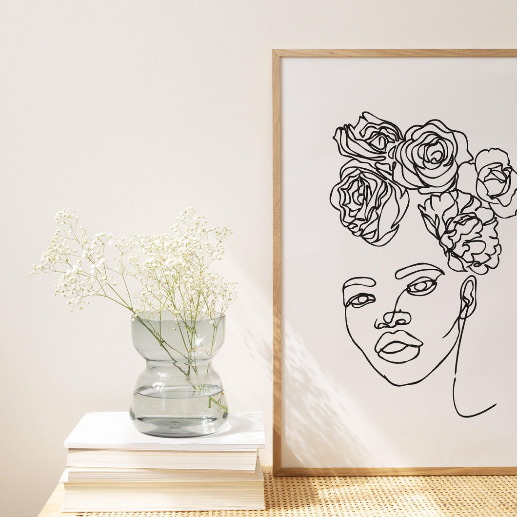HEAD OF FLOWERS - The EveryDay Print Company