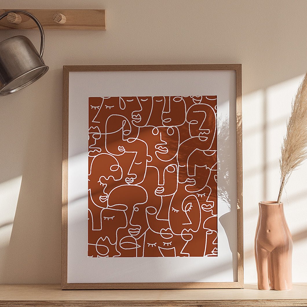 TERRACOTTA FACES - THE EVERYDAY PRINT COMPANY