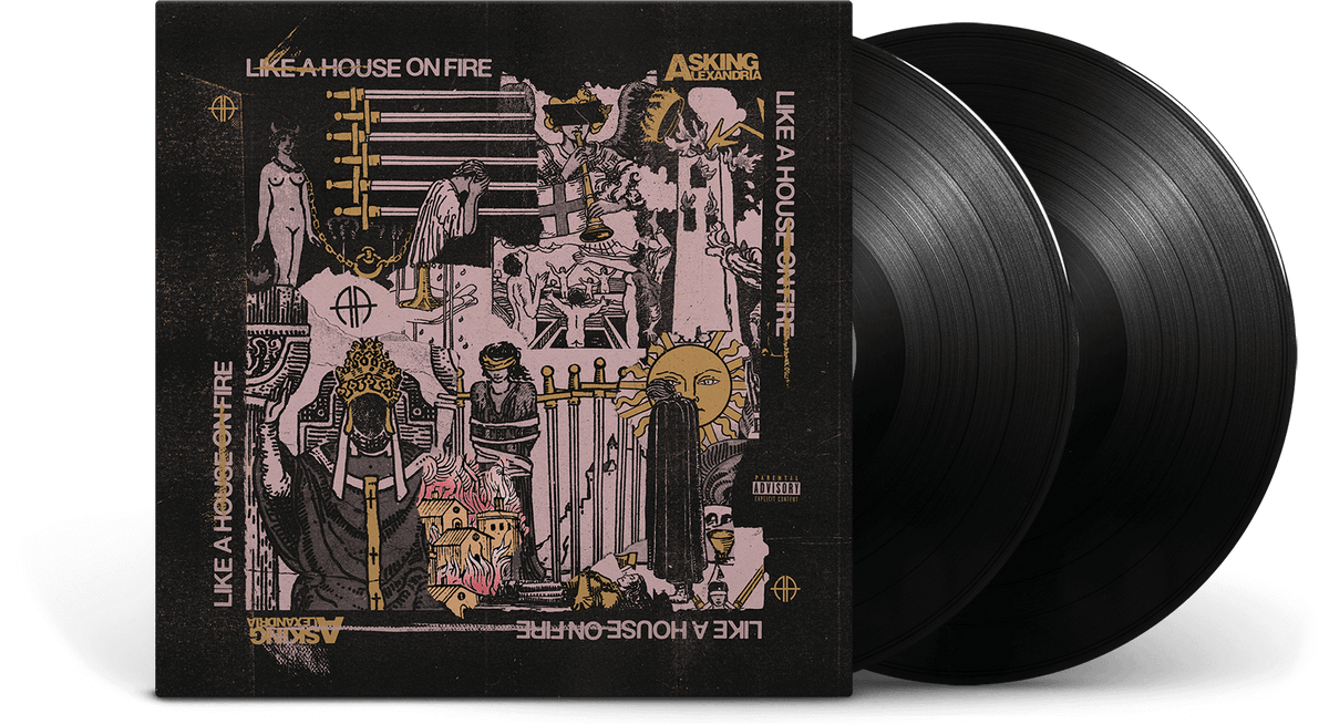 Vinyl - Asking Alexandria : Like A House On Fire - The Record Hub