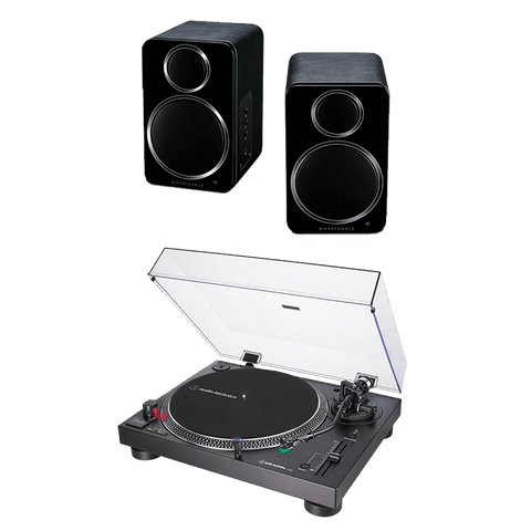 Vinyl - Audio Technica Turntable + Wharfedale Speakers + Vinyl - The Record Hub