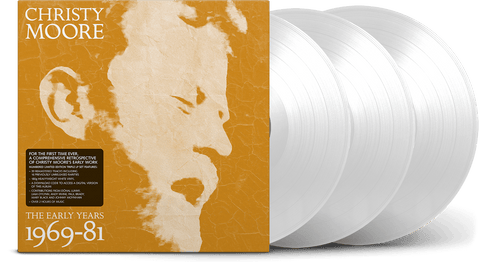 Vinyl - [Pre-Order 06/11] Christy Moore : The Early Years 1969-81 (Ltd Edition White Vinyl 3LP) - The Record Hub