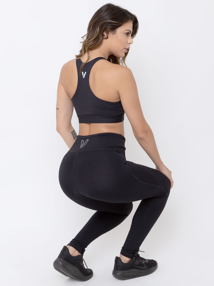 V-EVOLUTION Basic Anti Viral Leggings Black - VOTIG