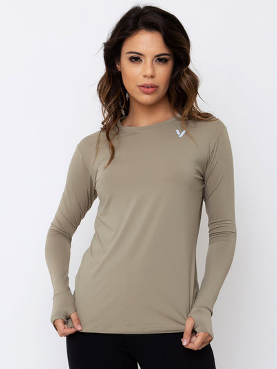 V-FLUITY Long Sleeve T-Shirt Cupuacu Green - VOTIG