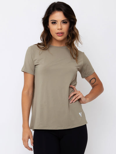 V-FLUITY Slide T-Shirt Cupuacu Green - VOTIG