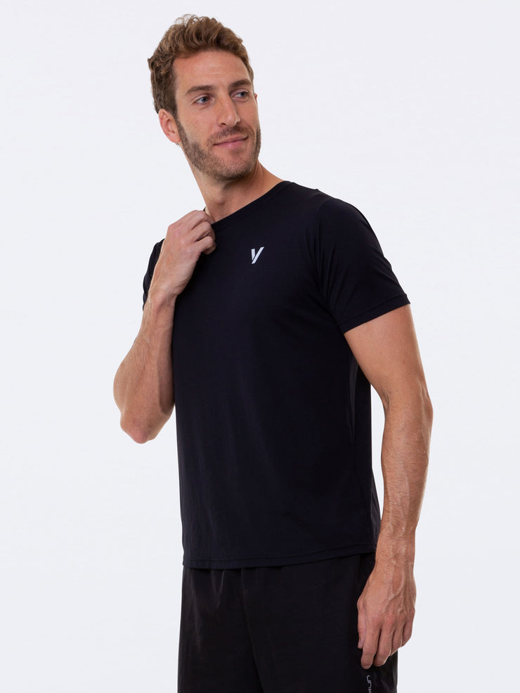 V-LINK Mens T-Shirt Anti Viral Fabric Black - VOTIG