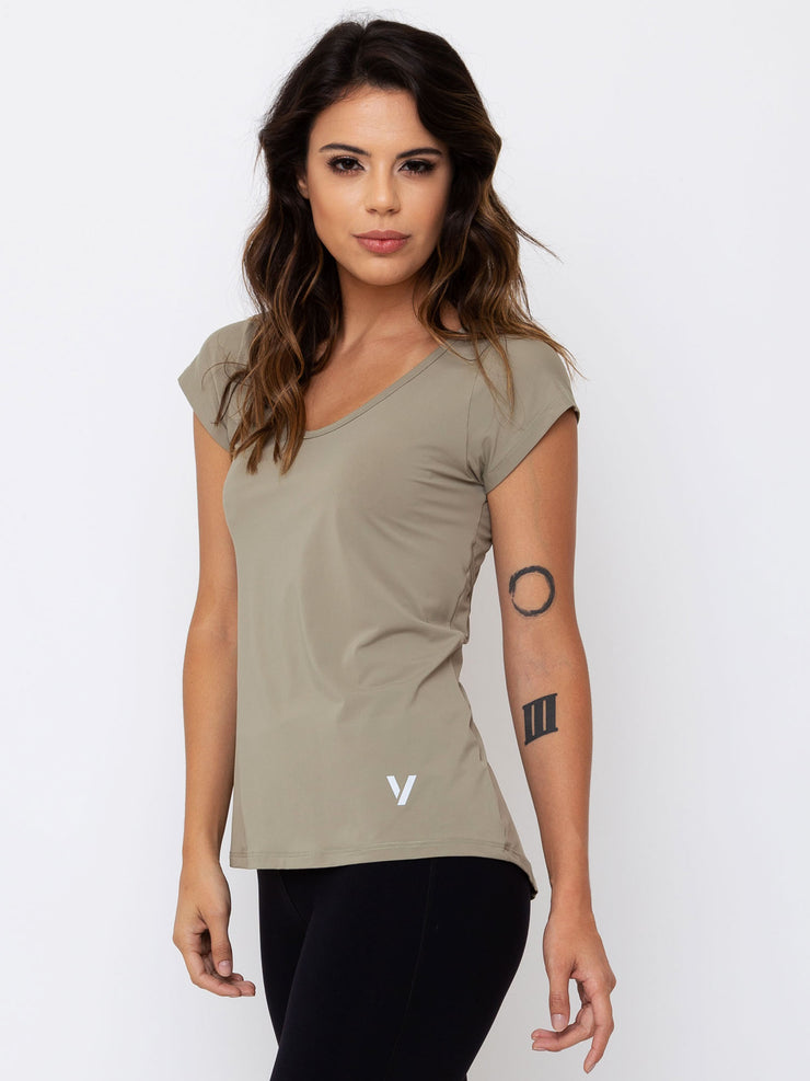 V-FLUITY Power UP T-Shirt Cupuacu Green - VOTIG
