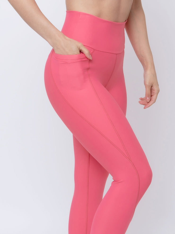 V-UP ECO Performance Leggings 7/8 Rose Carmine - VOTIG