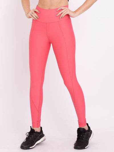 V-UP Performance Eco Leggings With Pocket Rose Carmine - VOTIG