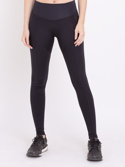 V-Emana Performance Eco Leggings With Pockets Black - VOTIG