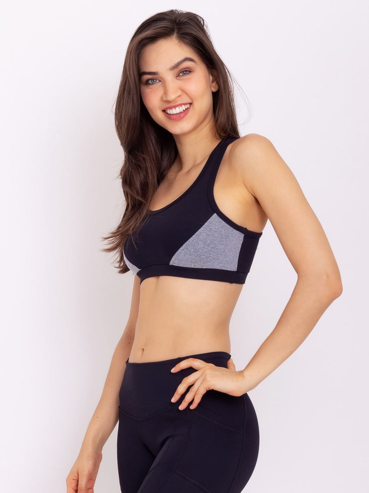 V-Emana Eco Performance Crop Top MZ Grey - VOTIG