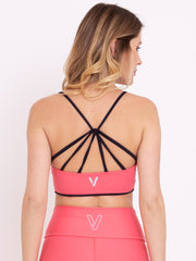 V-UP Performance Eco Leggings & Reversible Top Set Rose Carmine - VOTIG