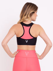 V-Emana Eco Performance Crop Top Rose Carmine - VOTIG